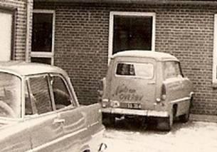Min Taunus 15 parkeret på Støvring Højskole – vinteren 1962 – 63